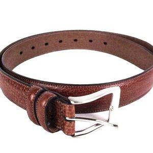 PERRY ELLIS PORTFOLIO Men BROWN 34 Leather Belt